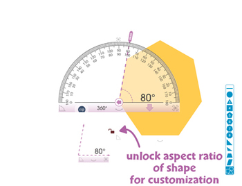 Curriculum Math Tools - Protractor Tool - PC Gr. PK-8