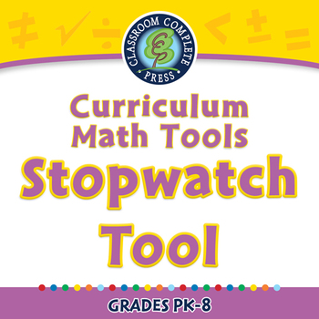Curriculum Math Tools - Stopwatch Tool - NOTEBOOK Gr. PK-8