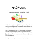 Curriculum Night ABC's of Kindergarten Letter