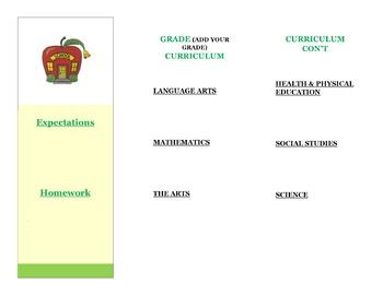 Curriculum Night Brochure
