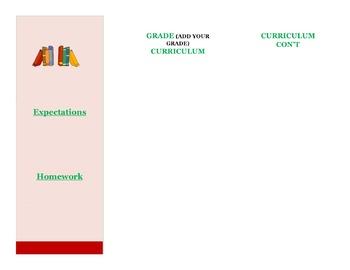 Curriculum Night Brochure Template
