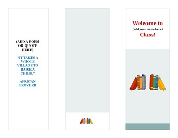 Curriculum Night Brochure Template