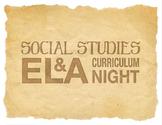 Curriculum Night ELA and Social Studies Flyer