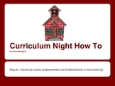Curriculum Night How To