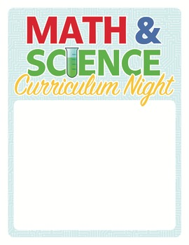 Curriculum Night Math and Science Flyer