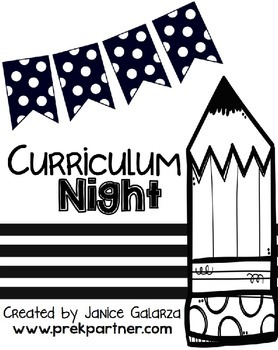 Curriculum Night / Open House Packet - EDITABLE