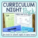 Curriculum Night / Parent Night Pack