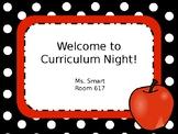 Curriculum Night Powerpoint (Editable)