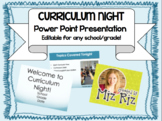 Curriculum Night Powerpoint! {Editable for YOUR class!}