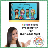 Curriculum Night Presentation for GOOGLE Drive