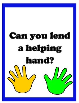 "Curriculum Night Sign in Sheet and ""Helping Hands"" donation"