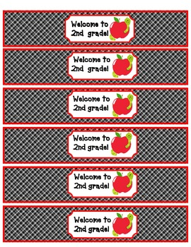 Curriculum Night Sign in Sheet and water bottle wraps Pre-k through 5th