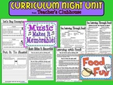 Curriculum Night Unit from Teacher's Clubhouse