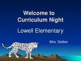 Curriculum Night or Open House Power Point {12 Slides}