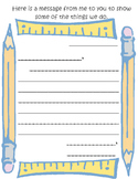 Curriculum Night/Open House Letter from Student to Parent  - *See parent letter