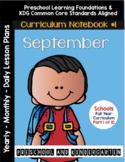 Curriculum Notebook #1 - September