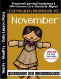 Curriculum Notebook #3 - November