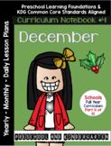 Curriculum Notebook #4 - December   Preschool and KDG