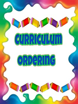 Curriculum Ordering pages