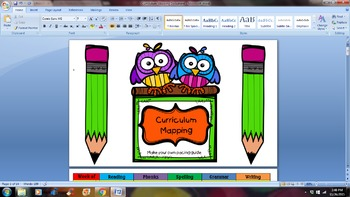 Curriculum Pacing Guide Template