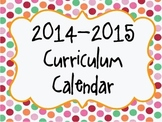 2014-2015 Curriculum Planner- Customization Available