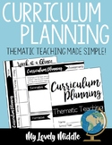 Curriculum Planner: Thematic Instruction