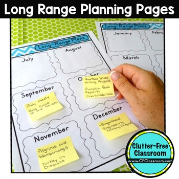 Planning Calendar  Templates Editable MapsPacingLongRange Plans