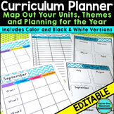 Curriculum Planning Calendar & Templates EDITABLE {Maps,Pacing,Long-Range Plans}