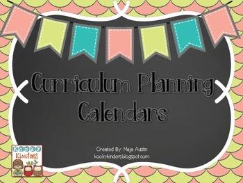 Curriculum Planning Calendars
