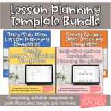 Editable Lesson Planning Template Bundle