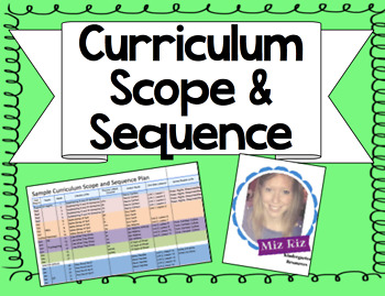 Curriculum Scope and Sequence Planning Chart! {Excel Document!}