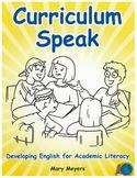 Curriculum Speak; Teacher Reproducible Templates