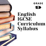 Curriculum Syllabus English Literature Grade 9 Aligned IGC