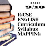 Curriculum Syllabus MAP English Literature Grade 9 10 IGCS
