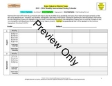 Curriculum Unit Map and Instructional Pacing Calendar Bundle (Monthly)