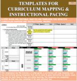 Curriculum Unit Map and Instructional Pacing Calendar Bundle (Weekly)