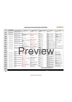 Curriculum Unit Map and Instructional Pacing Calendar (Excel)