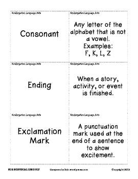 Curriculum Vocabulary Cards: Grades K-5