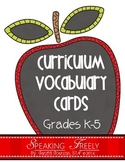 Curriculum Vocabulary Cards: Grades K-5