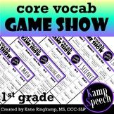 Curriculum Vocabulary Game Show: 1st Grade Edition