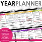 Year Planner - Back to School - FREE YEARLY UPDATES - Excel Version