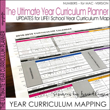 Year Planner - Back to School - FREE YEARLY UPDATES - Numbers Version
