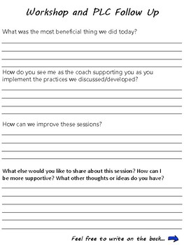 Curriculum and Instructional Coaching Forms