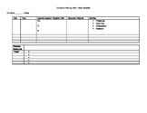 Curriculum and Lesson Planning Template