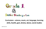 Curriculum expectations side by side Grade one and SK (SK/