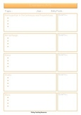 Curriculum for Excellence Planning Sheets
