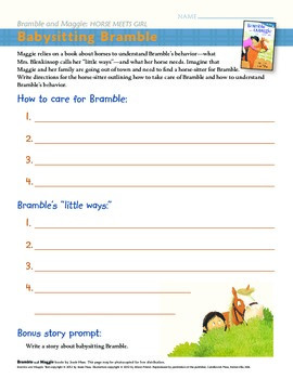 Curriculum guide for easy reader horse book series: Bramble and Maggie