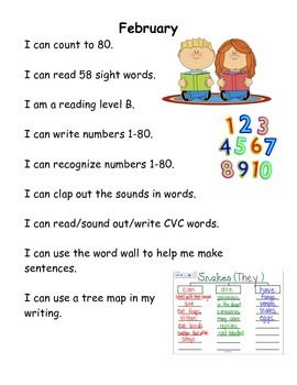 "Curriculum map using ""I can"" statements"
