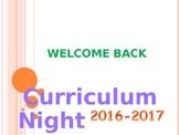 Curriculum night PowerPoint  presentation