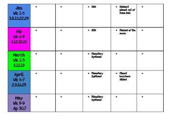 Curriculum planner for teacher binder
